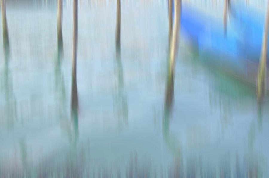Venice Photograph - Gondola Poles by Marion Galt