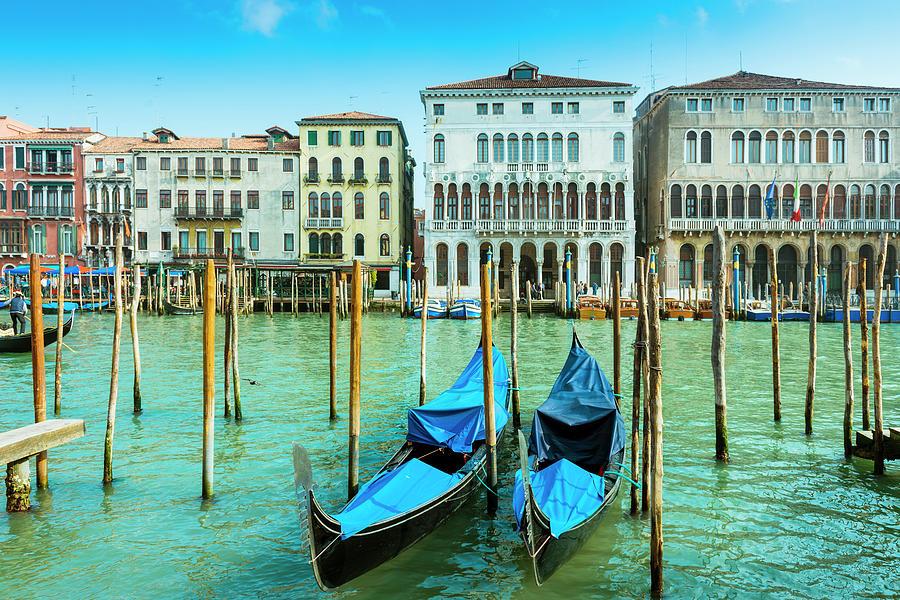 Gondolas In Venice Photograph by Caracterdesign