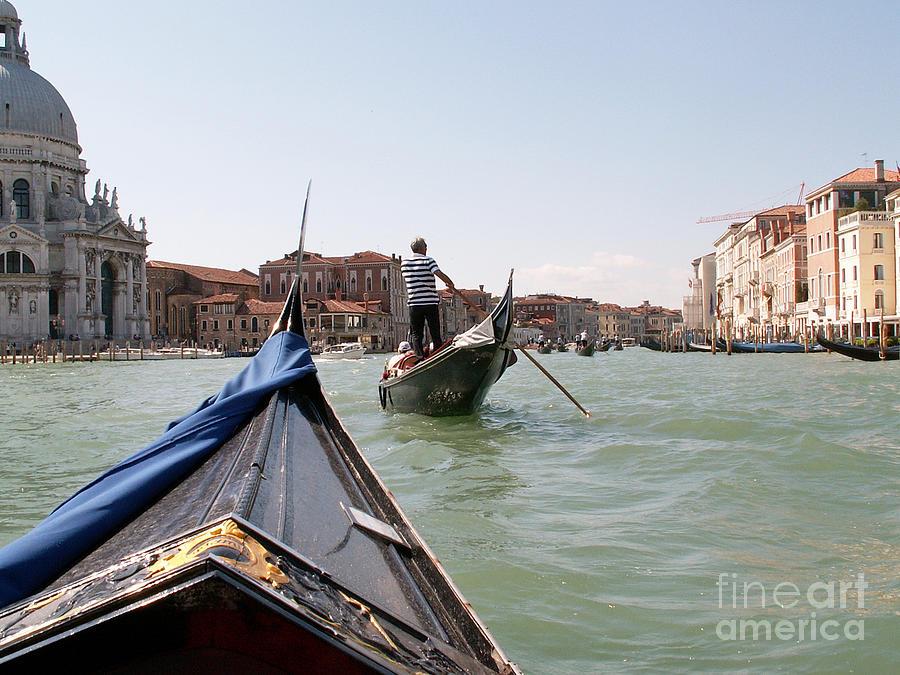 Gondola Photograph - Gondoliers by Evgeny Pisarev