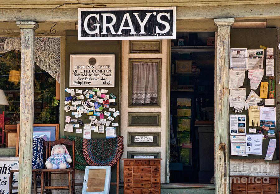 General Store Photograph - Gone But Not Forgotten by Nancy De Flon