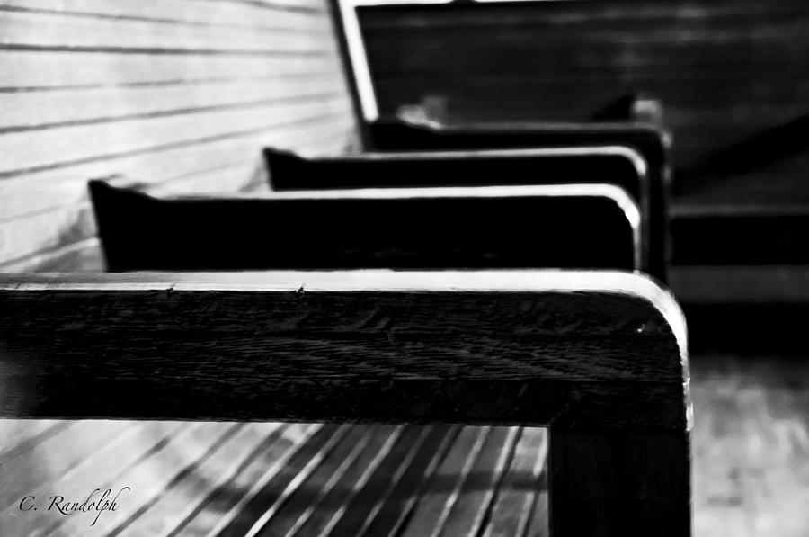 Benches Photograph - Gone by Cheri Randolph