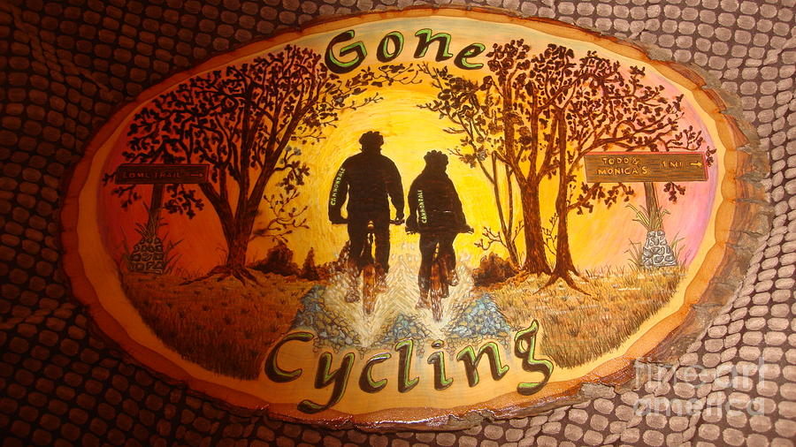 Bicycle Pyrography - Gone Cycling by Dakota Sage