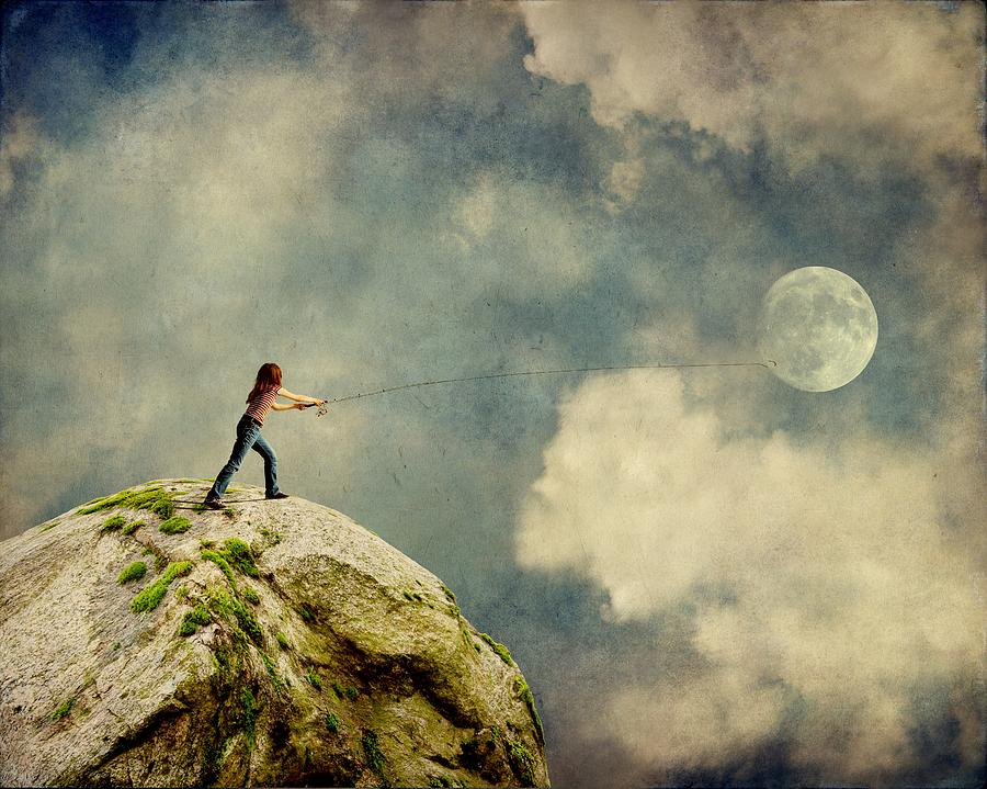 Surreal Photograph - Gone Fishing by Sonya Kanelstrand