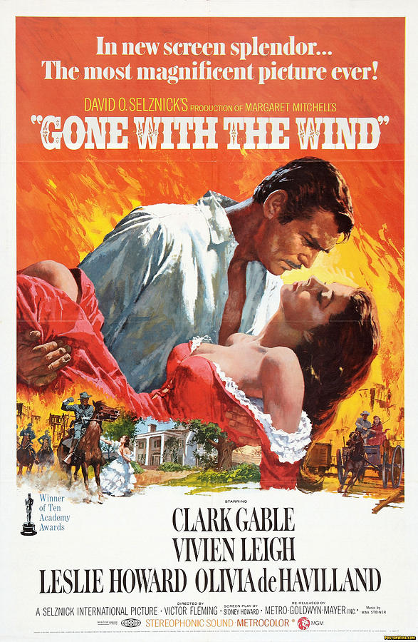 Movie Poster Photograph - Gone With The Wind - 1939 by Georgia Fowler