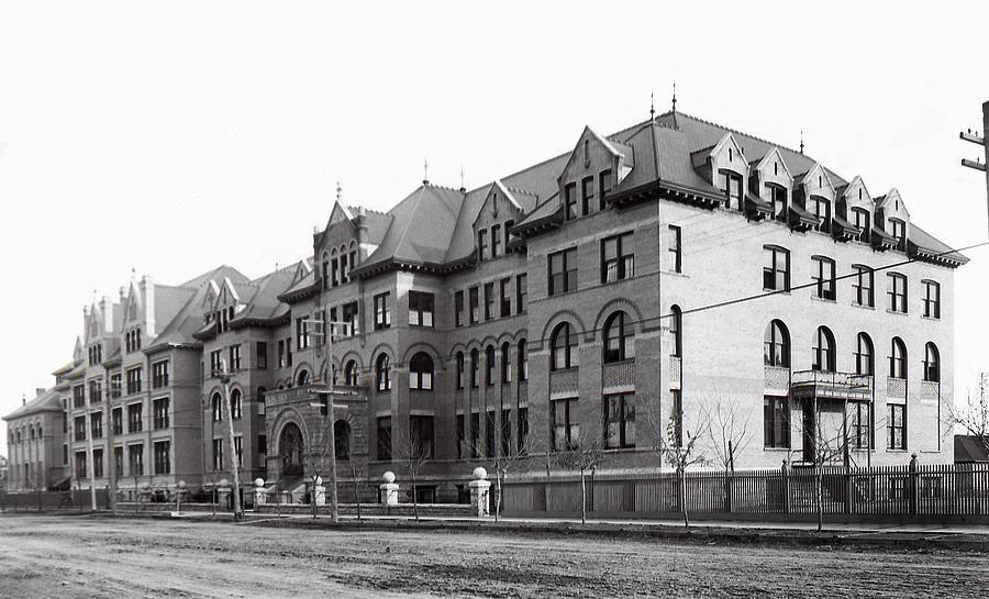 Spokane Photograph - Gonzaga College Spokane 1900 by Daniel Hagerman