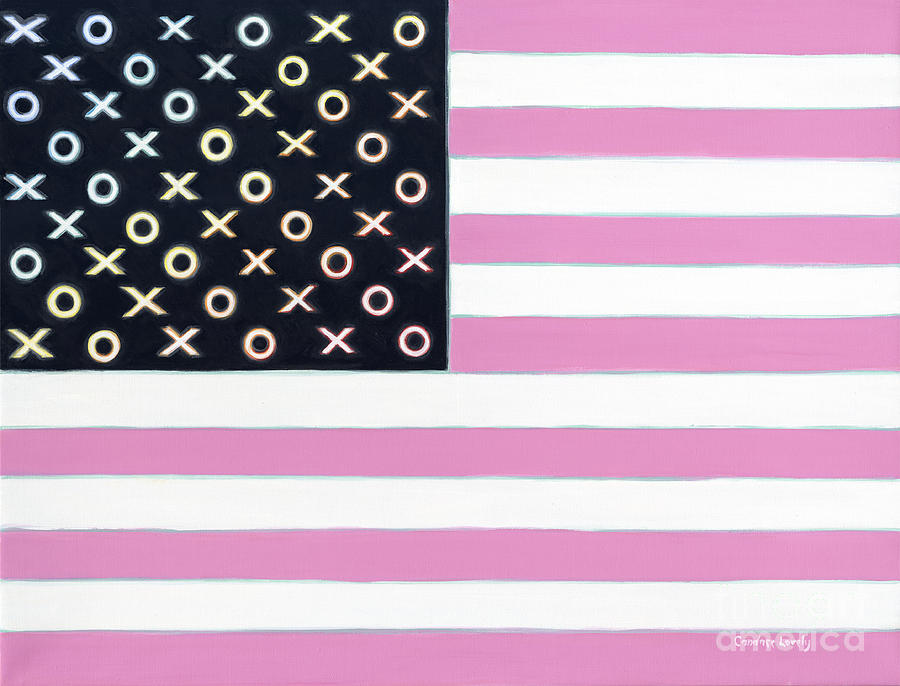 Flag Painting - Good And Plenty America by Candace Lovely
