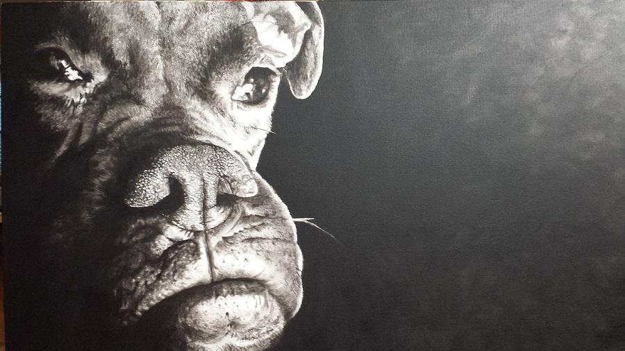 Pet Portrait Painting - Good Dog by Scott Robinson