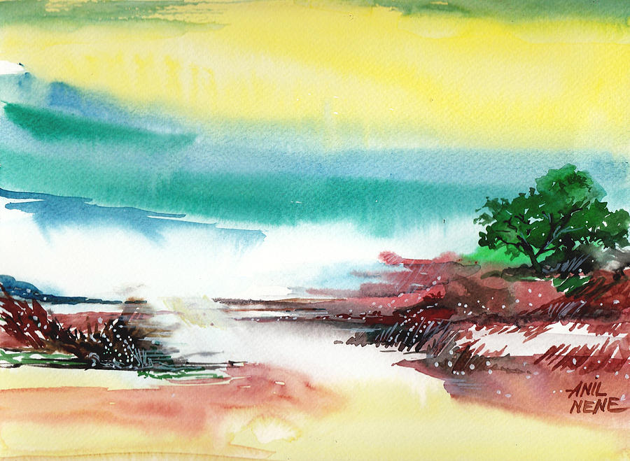 Abstract Painting - Good Evening by Anil Nene