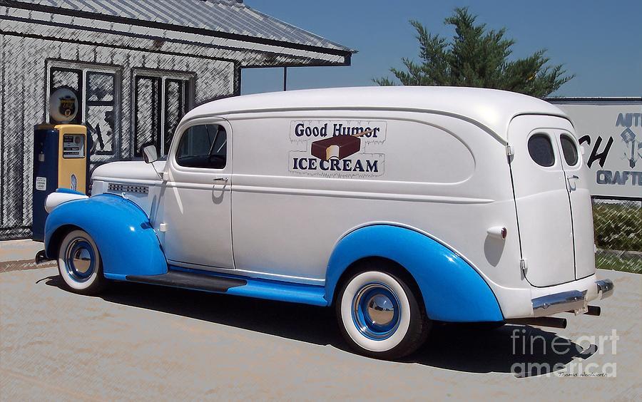 Good Humor Ice Cream Truck Digital Art Photograph By