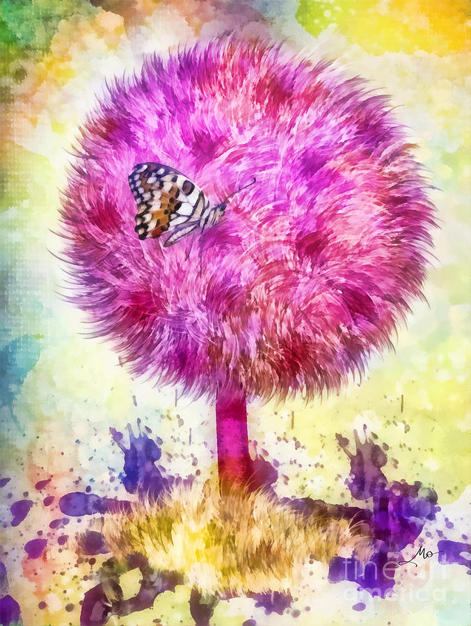 Good Luck Tree Digital Art - Good Luck Tree by Mo T