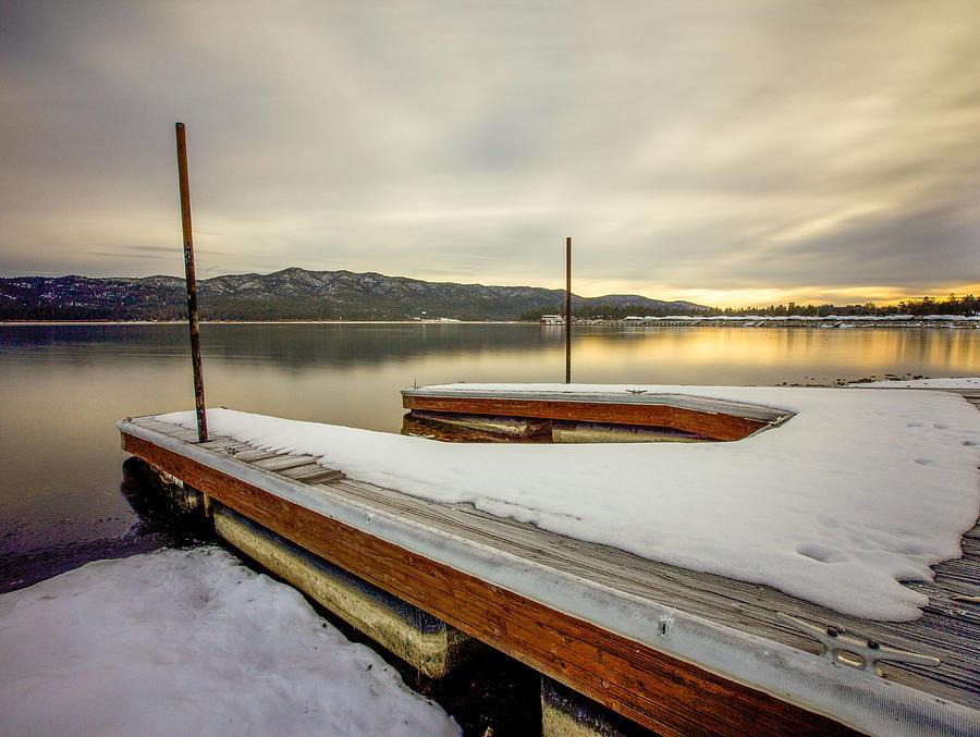Pier Photograph - Good Morning Big Bear Lake by Robert  Aycock