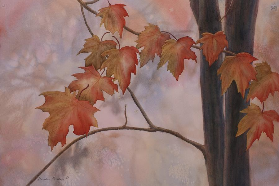 Maple Leaves Painting - Good Morning Maple by Heather Gallup