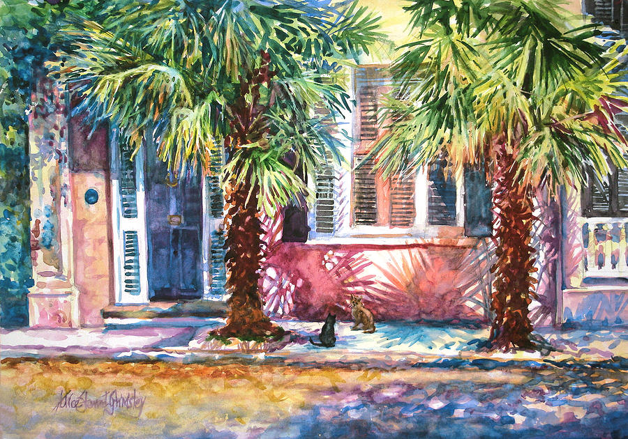 Charleston Painting - Good Neighbors by Alice Grimsley