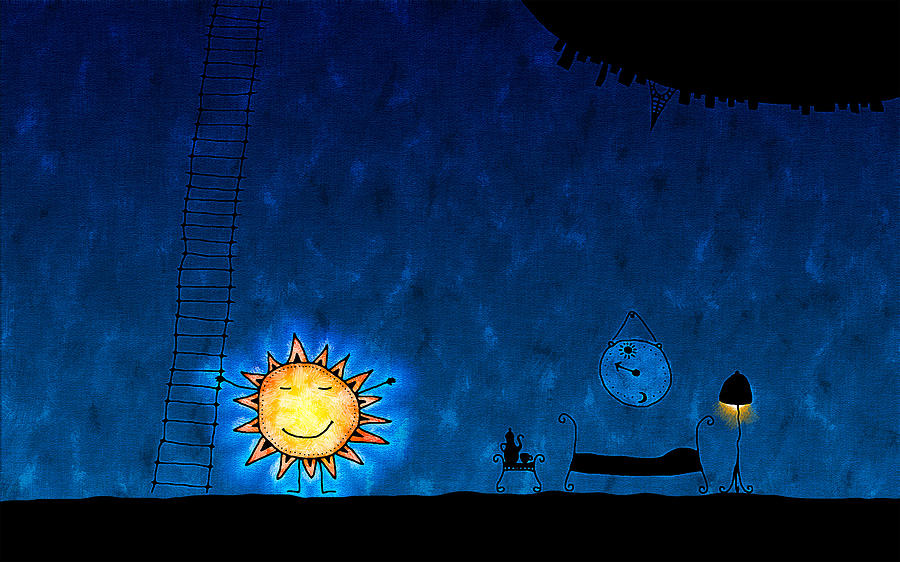 Abstract Digital Art - Good Night Sun by Gianfranco Weiss
