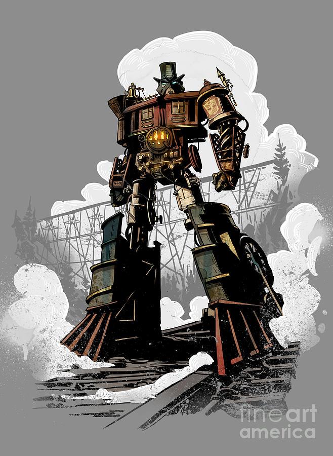 Robot Digital Art - Good Robot by Brian Kesinger