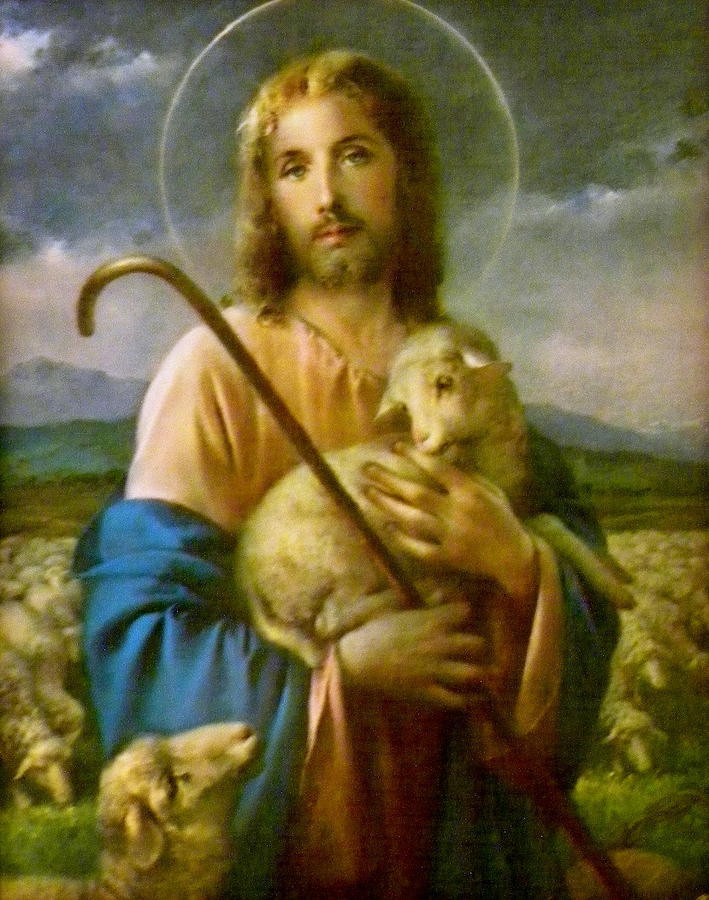 Artist Painted Jesus Good Shepherd