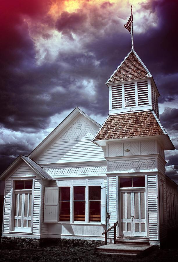 Church Photograph - Good Vs Evil by Ellen Heaverlo