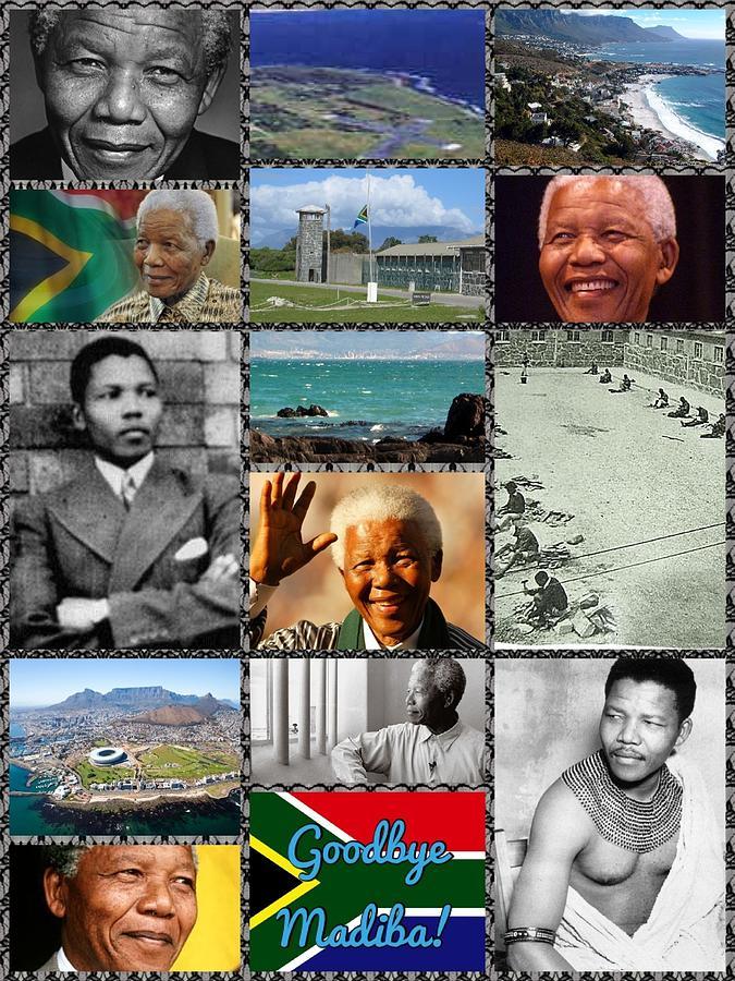 Collage Digital Art - Goodbye Madiba by Karen Buford
