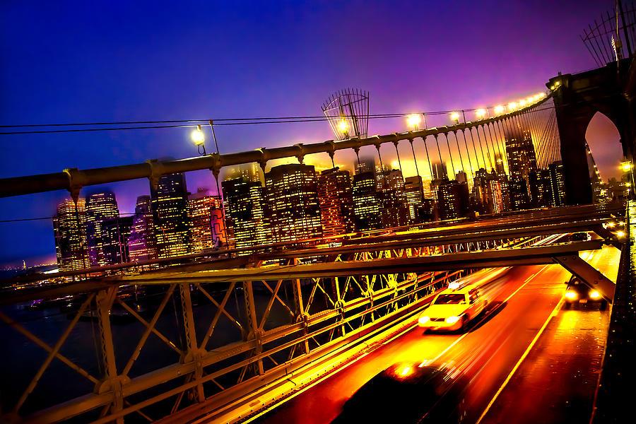 Brooklyn Bridge Photograph - Goodbye New York City by Az Jackson