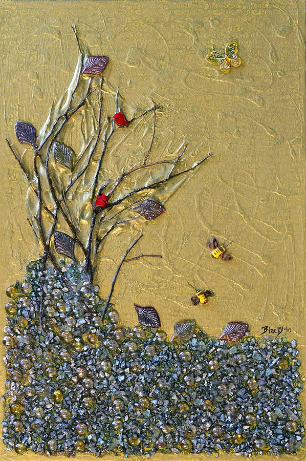 Winter Mixed Media - Goodbye October by Donna Blackhall