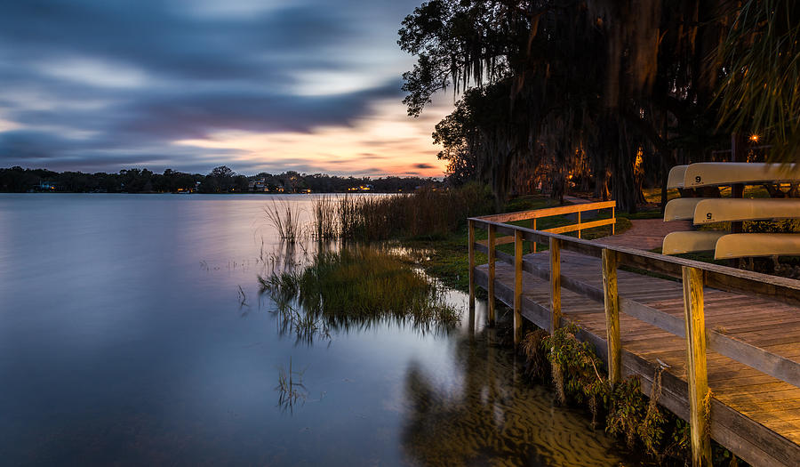 Canoe Photograph - Goodnight Canoes by Clay Townsend