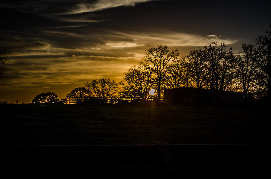 Sunset Photograph - Goodnight Ranch by Kelly Kitchens