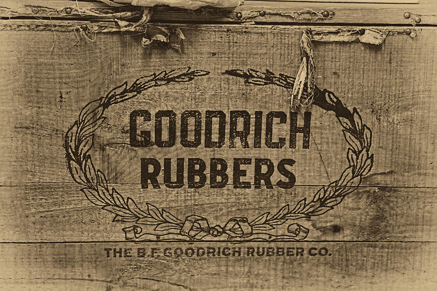 Rubbers Photograph - Goodrich Rubbers Boot Box by Tom Mc Nemar