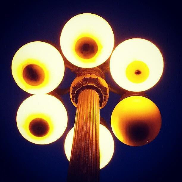Lamp Photograph - Googly Eyed by Jill Tuinier