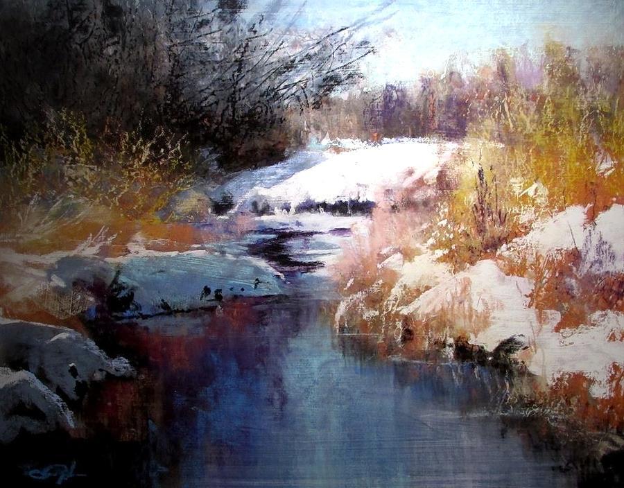 Goose Creek Winter Painting by Joseph Barani