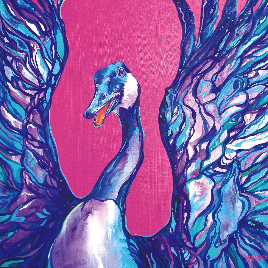 Bird Painting - Goose by Derrick Higgins
