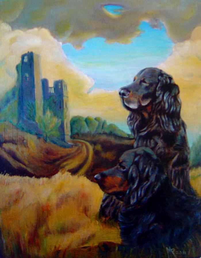 Dog Painting - Gorden Setters by Maxx Phoenixx