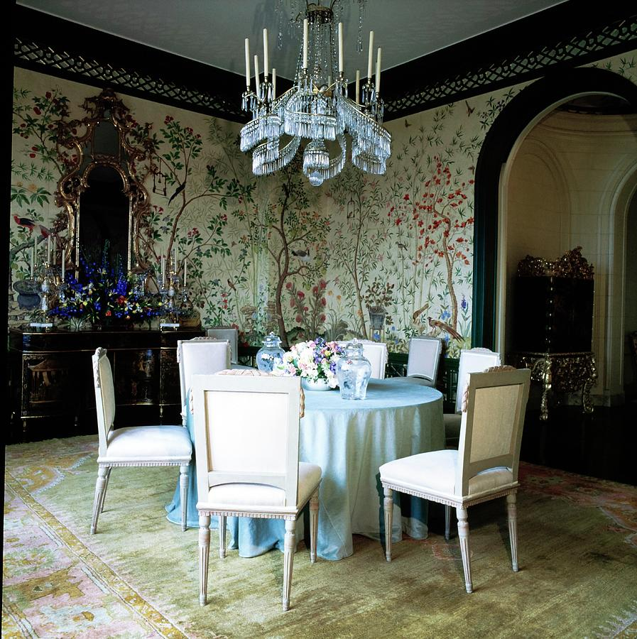 Gordon Gettys Dining Room Photograph by Horst P. Horst