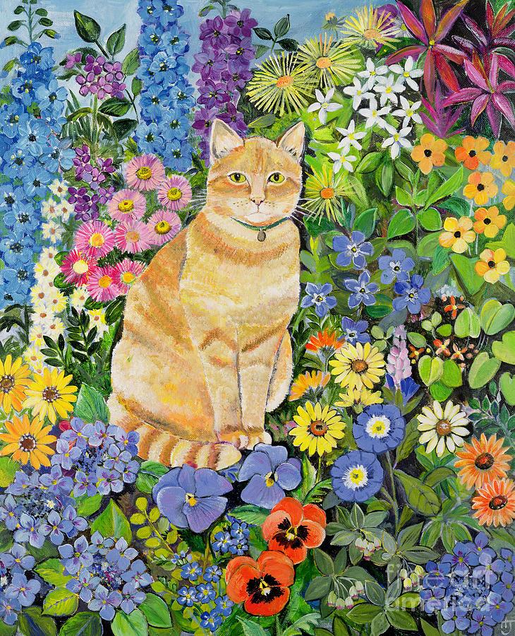 Cat Painting - Gordon s Cat by Hilary Jones
