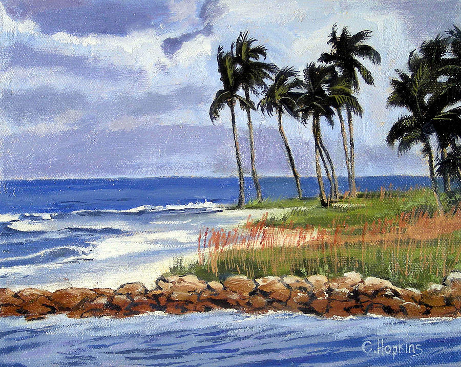 Gordons Pass Naples Florida Painting by Christine Hopkins