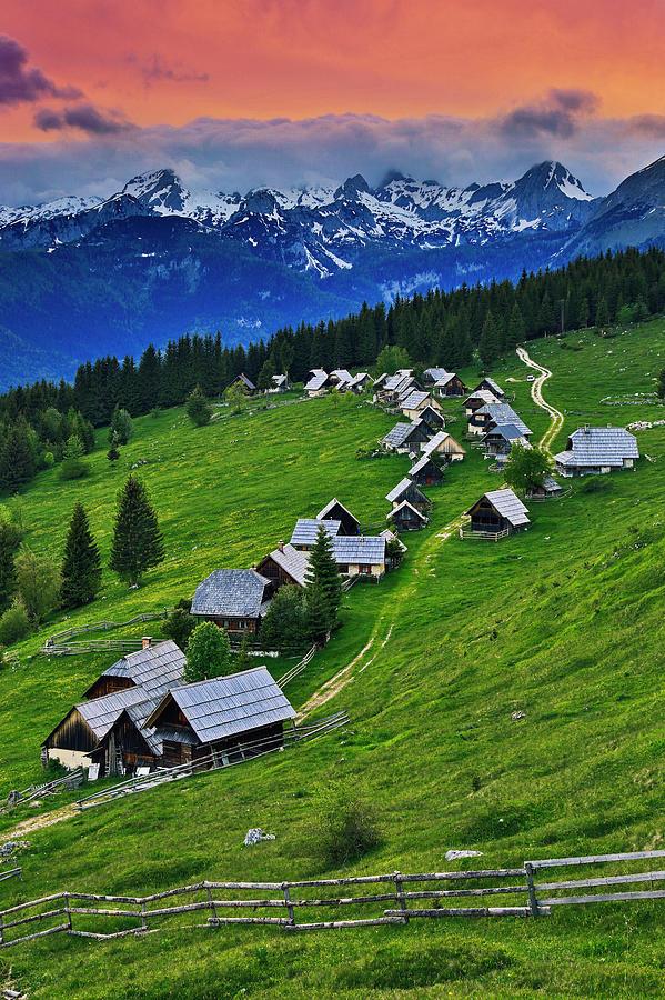 Nobody Photograph - Goreljek Shepherding Village In Alpine by Johnathan Ampersand Esper