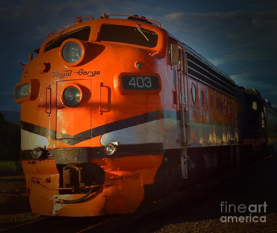 Gorge Train by Jerry L Barrett