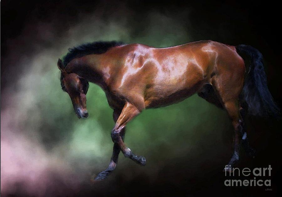 Equine Photograph - Gorgeous George by Wobblymol Davis
