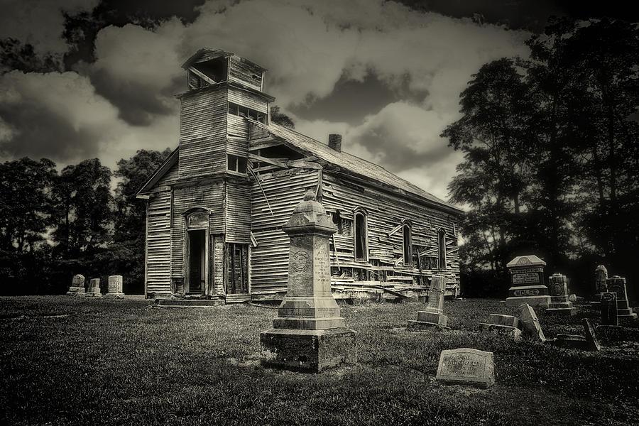Cemetery Photograph - Gospel Center Church II by Tom Mc Nemar