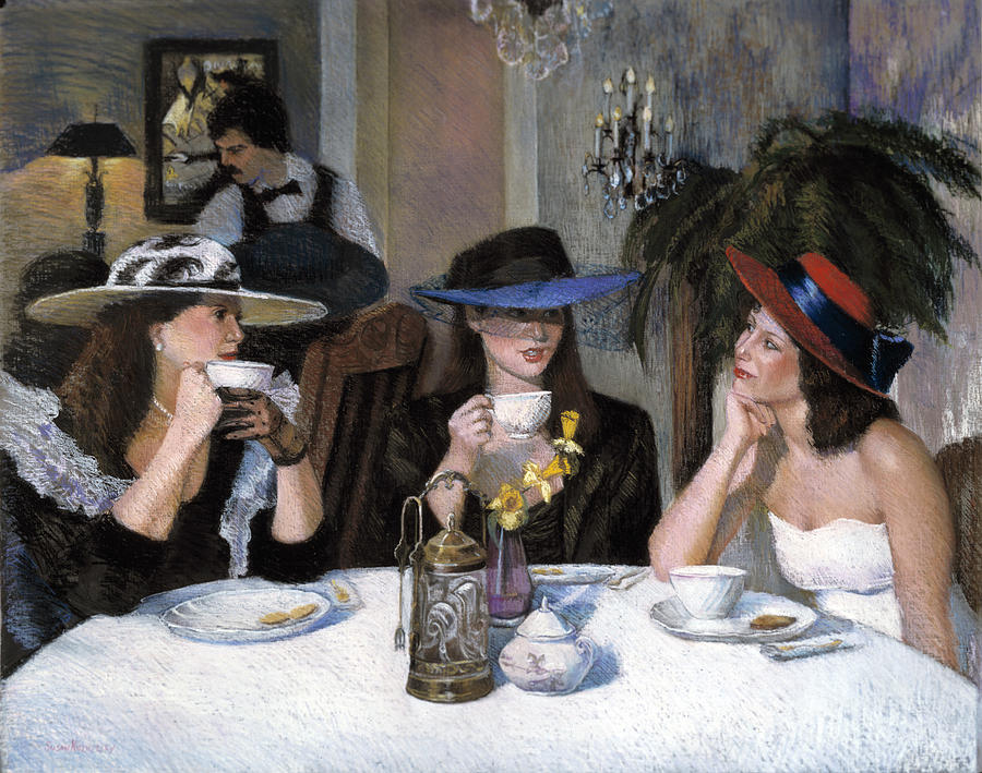 Gossip Painting by Susan Kuznitsky