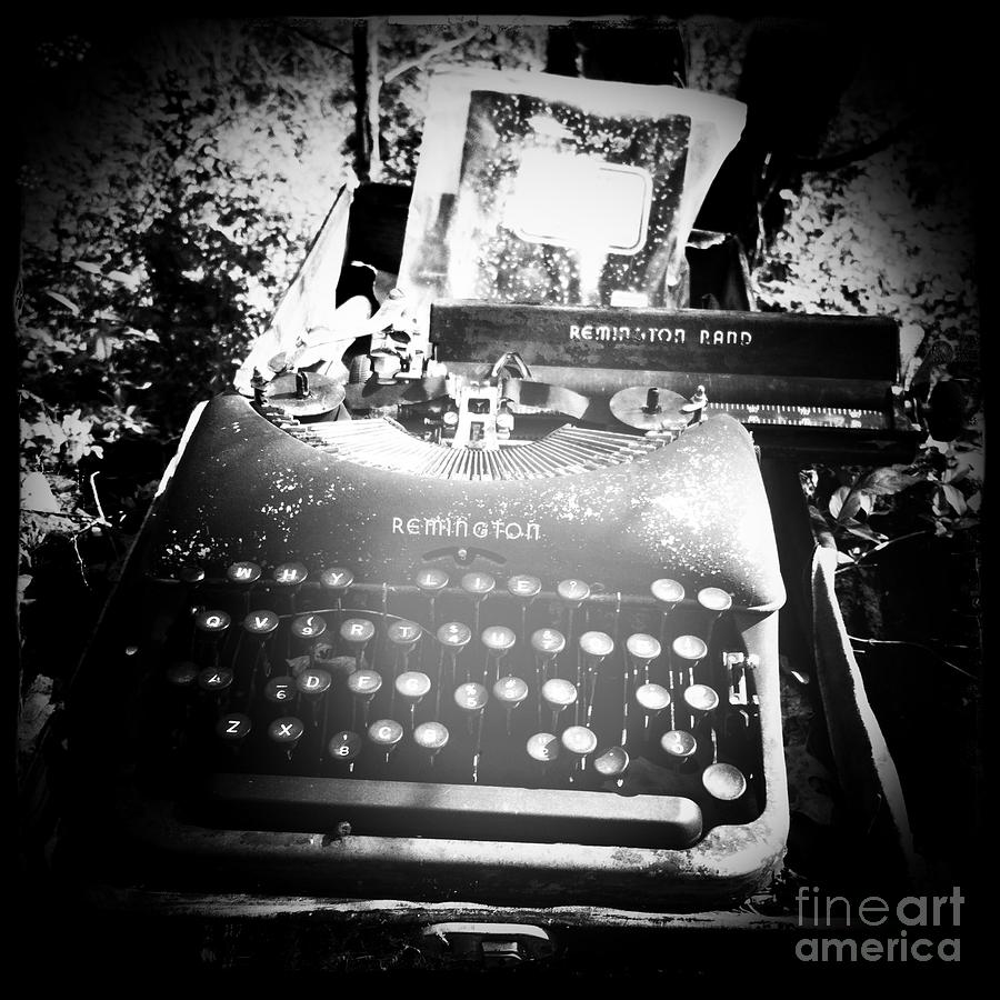 Typewriter Photograph - Gost Writer by Traci Bunkers