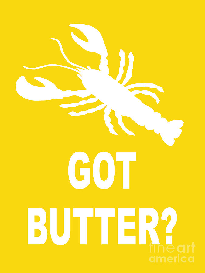 494 Digital Art - Got Butter Lobster by Julie Knapp