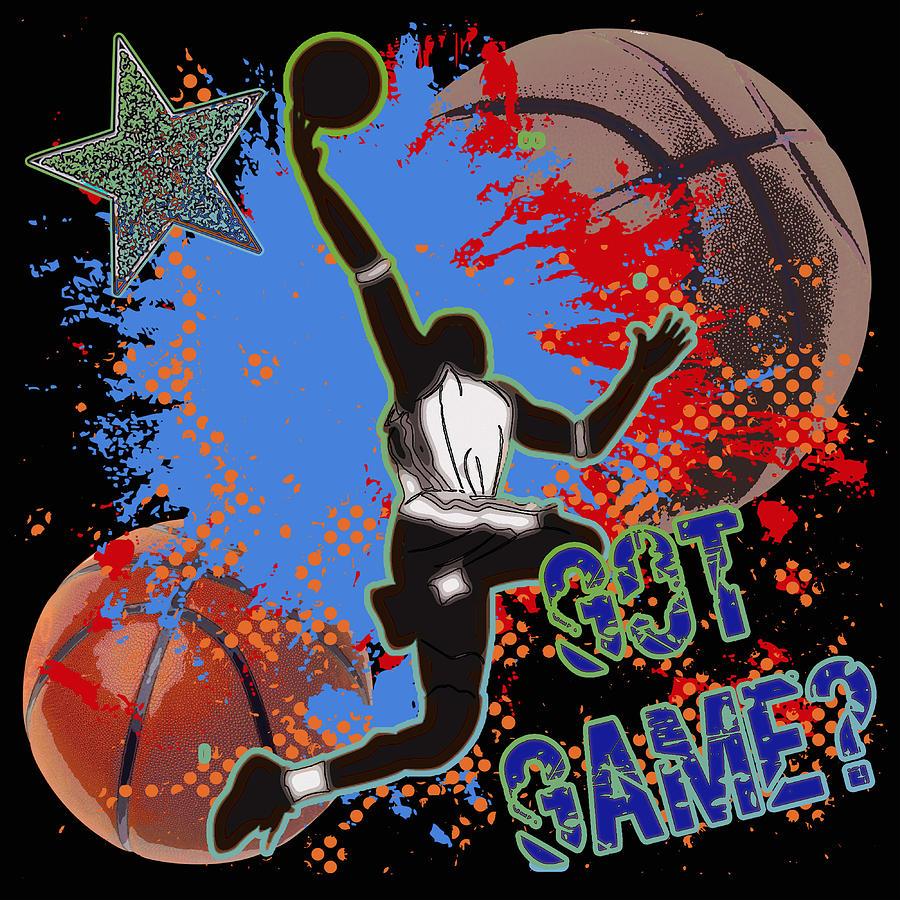 Basketball Digital Art - Got Game? by David G Paul