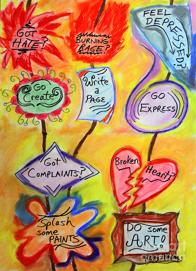 Illustrated Poem Mixed Media - Got Hate? by Kelly Athena