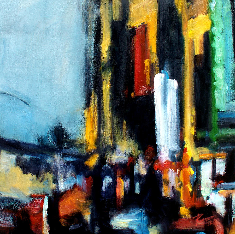 New York Painting - Gotham 3 by Robert Reeves