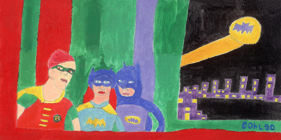 Gotham Heroes  Painting by Don Larison