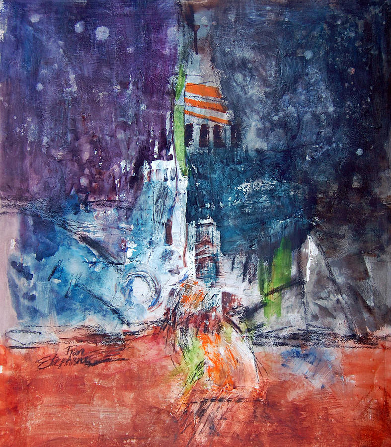 Abstract Painting - Gotham by Ron Stephens