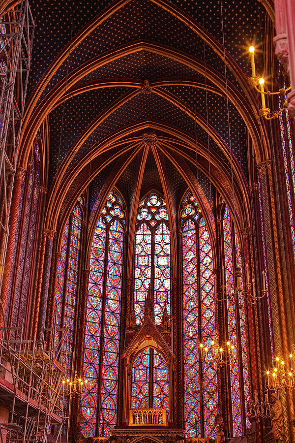 Gothic Architecture Inside Sainte Photograph by Julian Elliott Photography