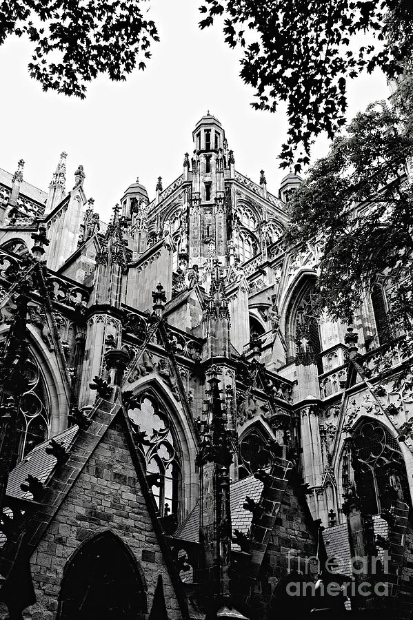 Gothic Architecture Photograph - Gothic Cathedral Of Den Bosch by Carol Groenen