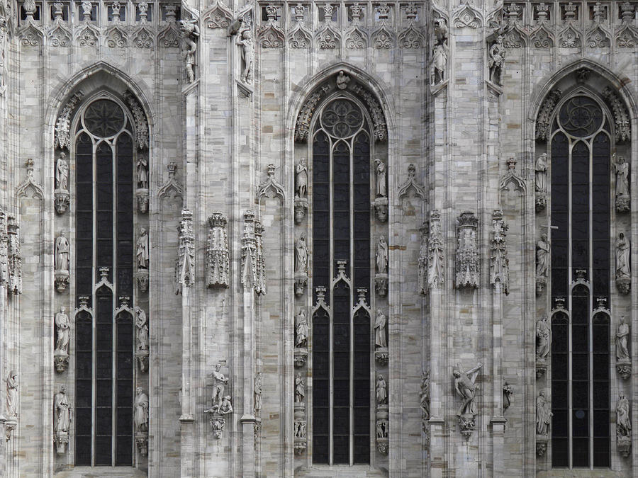 Gothic Cathedral Windows Photograph By Leone M Jennarelli