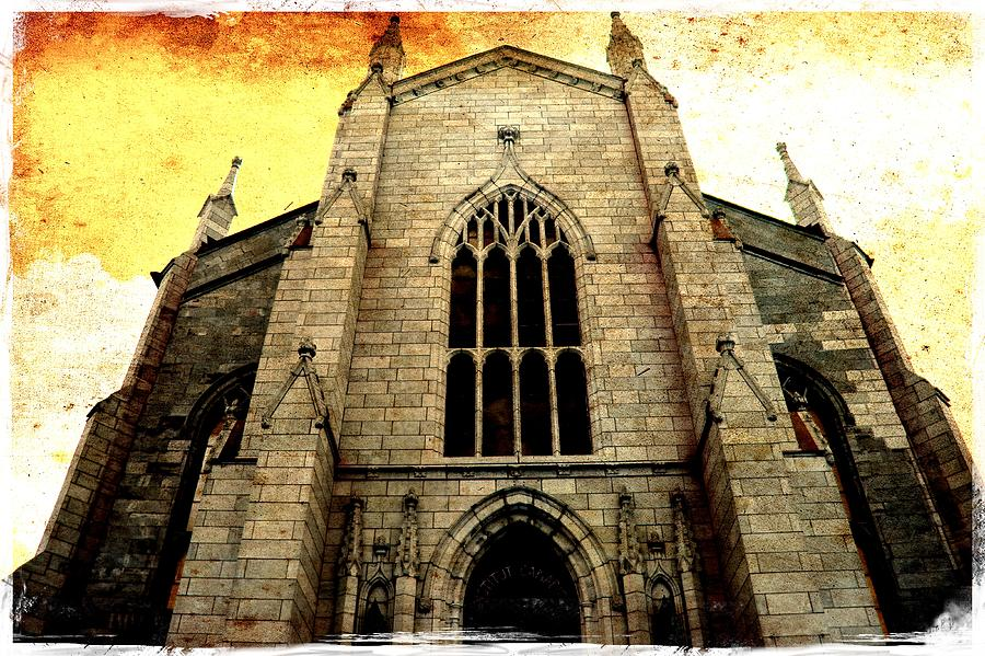 Architectural Details Photograph - Gothic Church Cathedral Photograph by Laura Carter